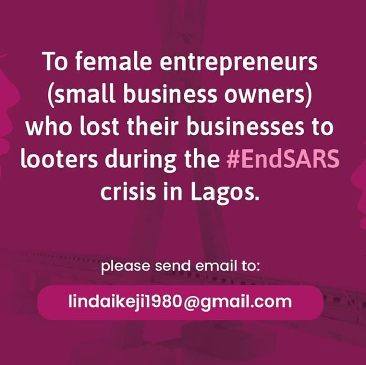 Auntie Linda Ikeji to assist female entrepreneurs whose stores were looted during #ENDSARS protests