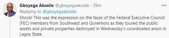 South West governors pay condolence visit to Gov Sanwo-Olu, say coordinated attacks in Lagos was an attempt to weaken Southwest economy