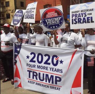 Nigerian Church holds prayer walk for Donald Trump (photos)
