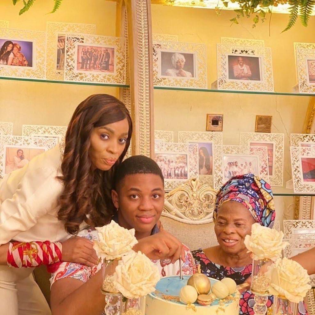 Shade Okoya celebrates her son as he turns 14 (photos)
