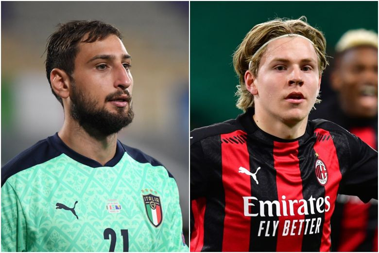 AC Milan stars Donnarumma and Hauge test positive for coronavirus