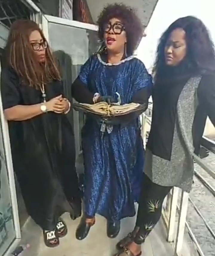 Evil shall never depart from their life- Eucharia curses those claiming Uche Elendu is chasing clout with vandalized store (video)