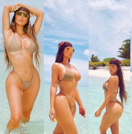 """This is 40"" - Reality star, Kim Kardashian says as she shares new bikini photos"