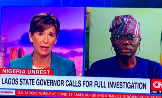 Lekki shooting: We have records of two deaths- Gov Sanwo-Olu tells CNN (Video)