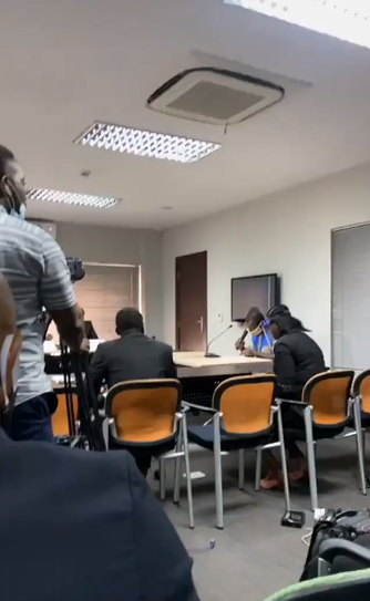 #EndSARS: First video from the ongoing hearing of the Lagos judicial panel
