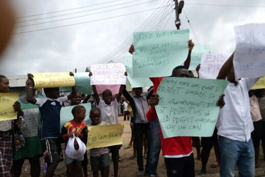 Rivers community protests as sea pirates attack passenger boat, kill father of six