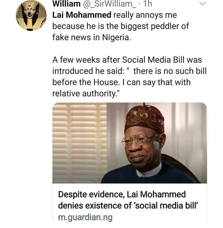 Nigerians react to Lai Mohammed