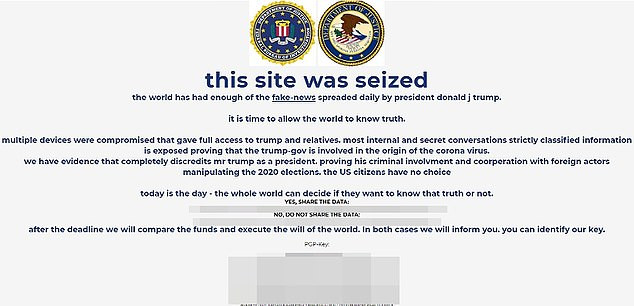 Trump?s campaign website temporarily ?seized