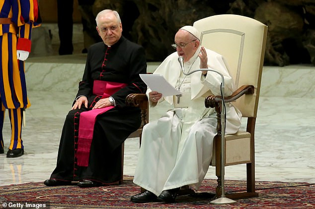 """Pope Francis describes COVID-19 as a """"lady"""" who must be obeyed, as he keeps his distance from well-wishers (photos)"""