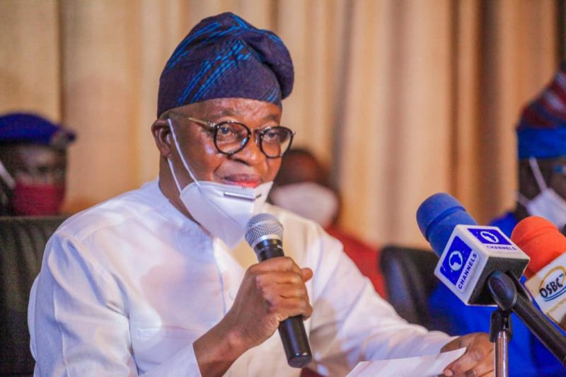 Governor Oyetola relaxes 24-hour curfew in Osun state