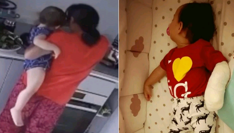 """She harmed a defenseless toddler"" - Mom kicks as court sentences her former maid to 14 months in prison for burning her baby with boiling water"