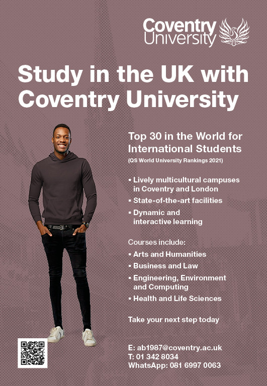 Study in the United Kingdom this November 2020 or January 2021