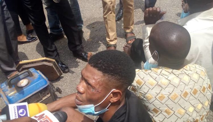 I did not burn down any police station. I only stole two crates of Trophy drinks and a generator - Suspected arsonist confesses (photos)