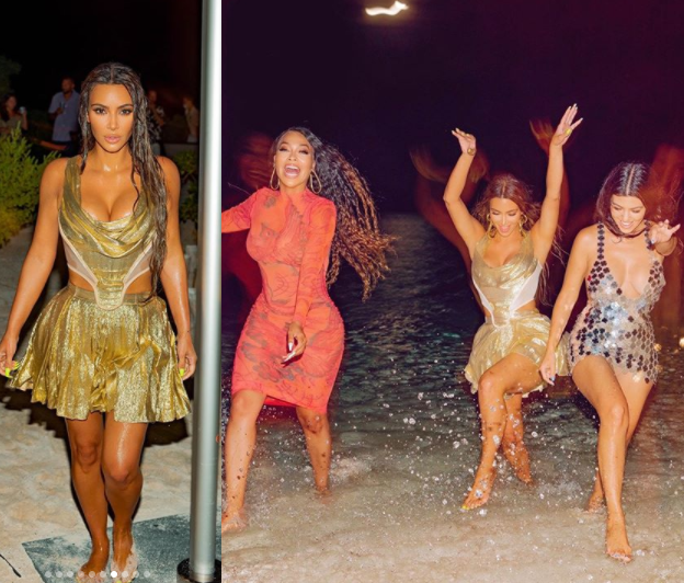 Kim Kardashian shares more photos from her lavish tropical 40th birthday party amid controversy surrounding the event