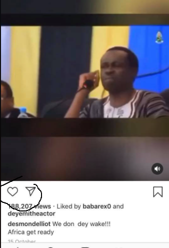 Desmond Elliot turns off the comment section of his Instagram handle lindaikejisblog 1