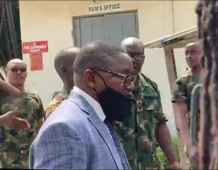 Soldiers stop Lagos judicial panel from accessing military mortuary to investigate Lekki tollgate shooting (videos)