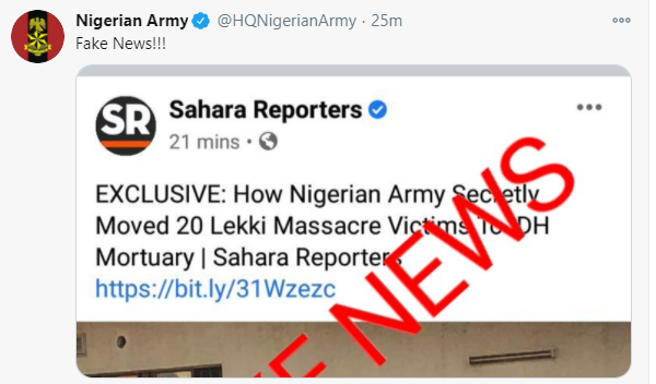 Army denies moving dead bodies from the military hospital