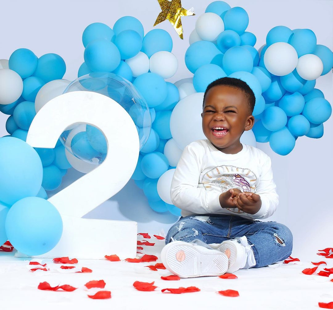 Actress Yvonne Jegede shares new photos of her son Xavier as he turns two
