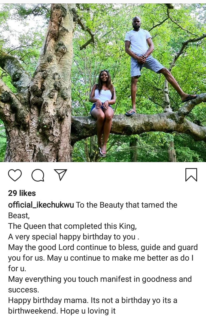 """To the beauty that tamed the beast"" Rapper Ikechukwu celebrates his woman on her birthday"