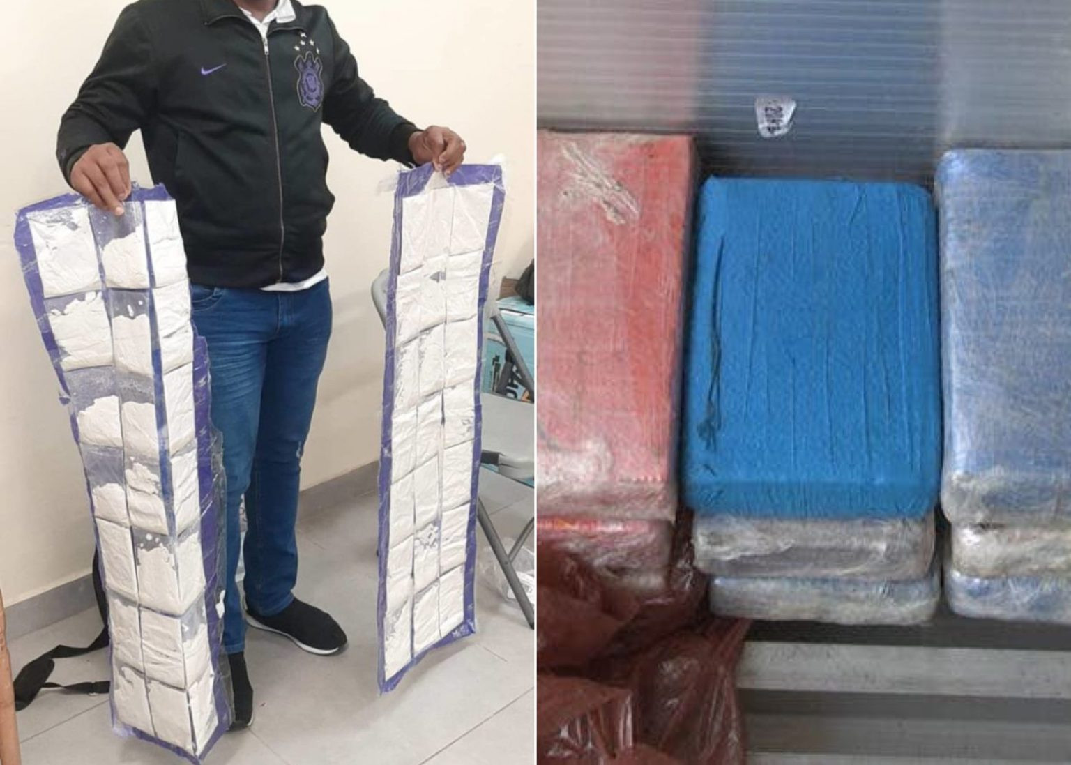 NDLEA arrest two men with 16.65kg of cocaine concealed in children duvet at Lagos Airport (Photos)