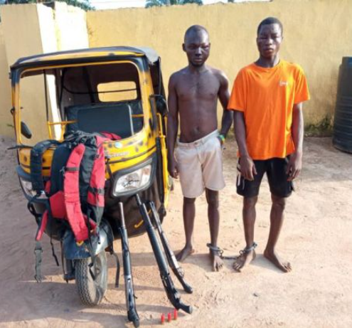 Two suspected armed robbers allegedly caught carrying pump-action guns arrested in Anambra