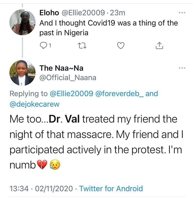 Young Nigerian doctor who treated injured #EndSARS protesters dies from Coronavirus