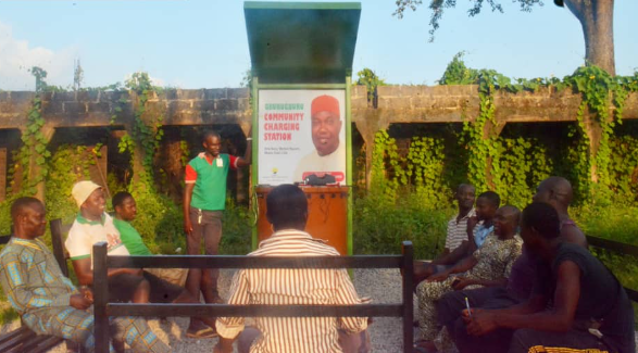 """What a joke"" Nigerians react as community charging station is installed in a village in Enugu"