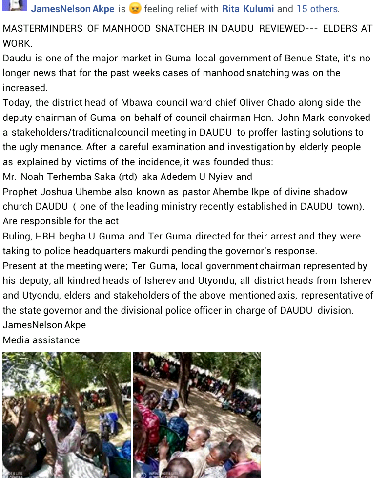 """Angry youths set ablaze all buildings belonging to prophet accused of """"snatching manhood"""" in Benue community"""