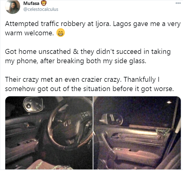 Twitter user narrates how he was almost robbed by traffic robbers