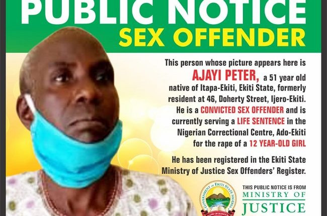 51-year-old convicted rapist publicly named-shamed in Ekiti lindaikejisblog