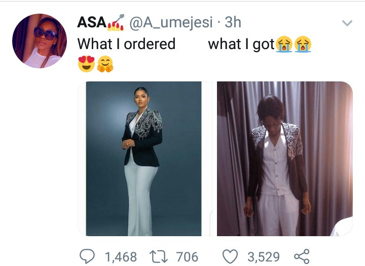 What I ordered vs what I got: Woman shares her experience online