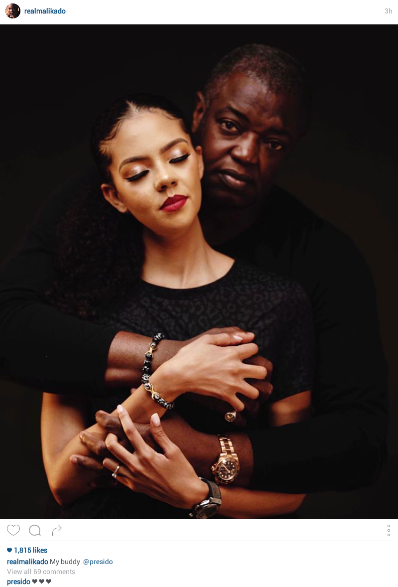 Billionaire daughter, Adama Indimi and husband Prince Malik Ado-Ibrahim all loved up in new photo