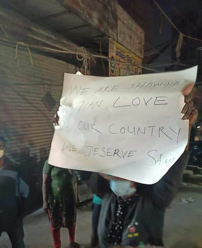 Nigerians protest against racism, illegal detention, extortion in India as police arrest compatriot for allegedly duping women online