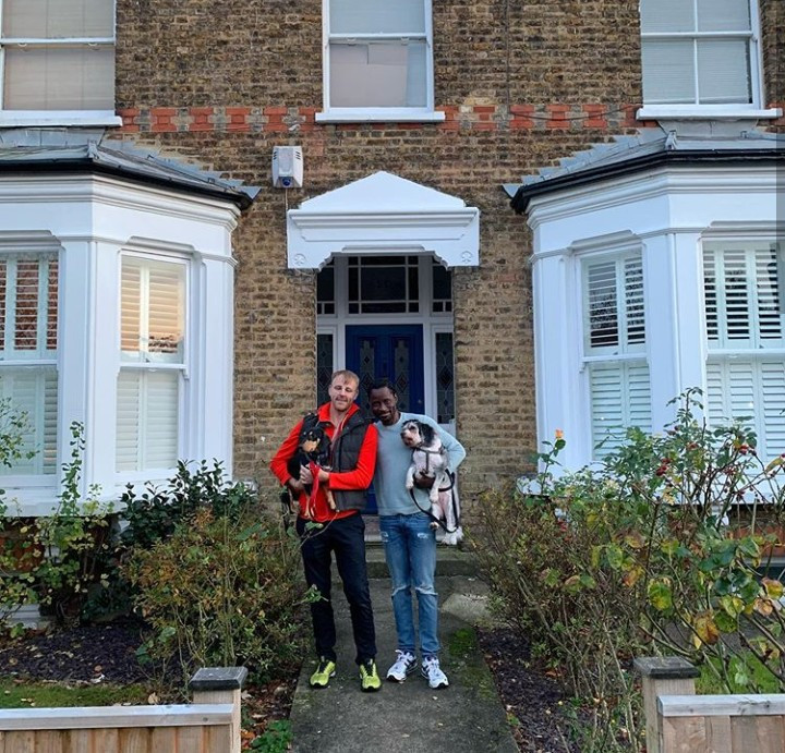 """From homeless boy to house owner twice"""" Bisi Alimi shows off second home he  and husband acquired in London to celebrate 4th wedding anniversary"""