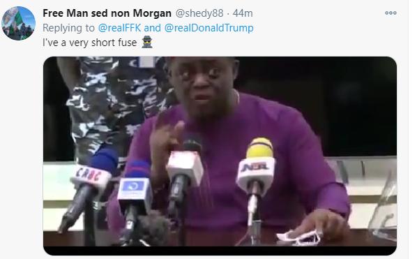 Nigerians react to FFK referring to US president-elect Kamala Harris as