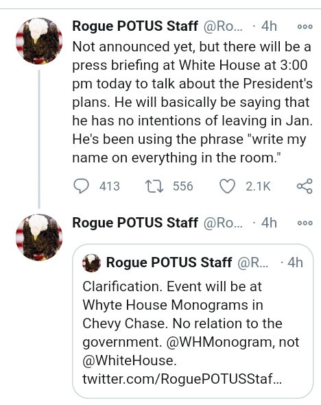 "Trump ?won?t leave White House in January and?has told aides to write his name on everything"" - Rogue staffer claims"