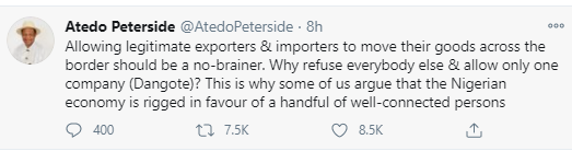 Was Nigeria created for Dangote or was Dangote created for Nigeria? - Femi Fani-Kayode asks after FG exempted Dangote Cement from land border closure