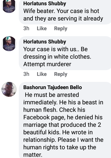 """Monster, animal, ugly bleached face""-Angry Nigerians drag man who allegedly attacked his wife with cutlass and threatened to kill her and their children if she exposes him"
