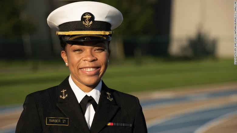 US Naval Academy names first Black female brigade commander