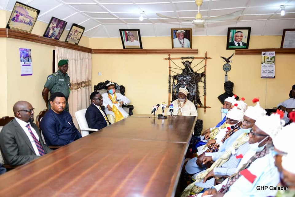 Obong of Calabar makes a U-turn, declares full support for Governor Ayade
