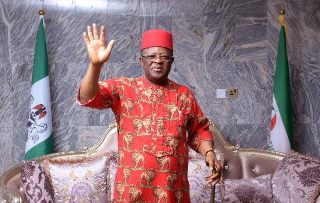 Ebonyi state governor, Dave Umahi, formally defects from PDP to APC