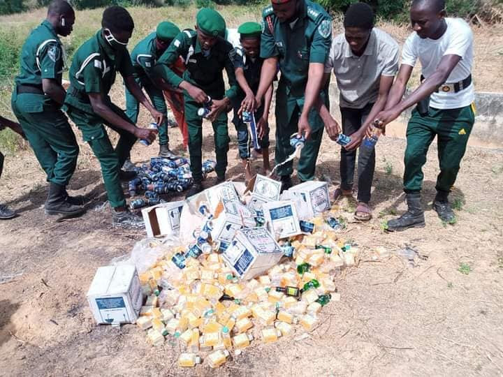 Hisbah destroys over 300 cans and bottles of alcohol in Katsina