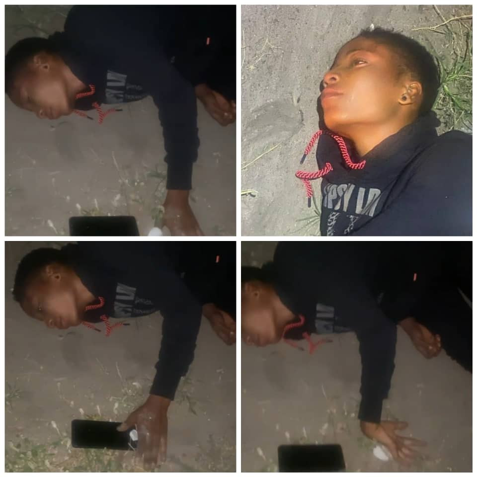 Lady found lying helplessly by the roadside in Lekki (video)