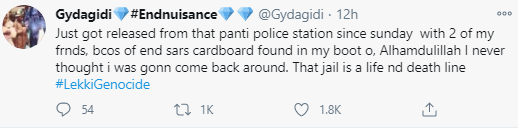 """""""That jail is a life and death line"""" Man claims he was arrested and detained in Panti for 4 days because of an End SARS carboard found in the trunk of his car"""