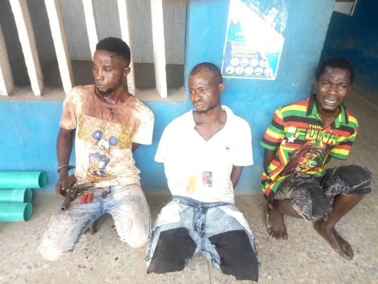 Three arrested after gun battle with Ogun police