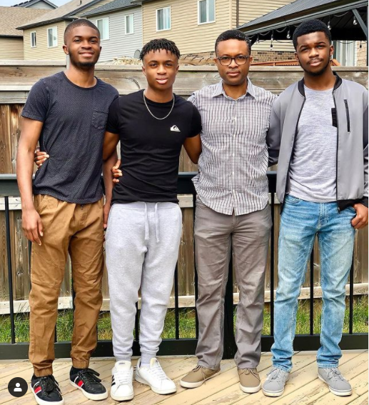 Nollywood actress, Omoni Oboli celebrates her husband and their three sons on International Men?s Day (photo)