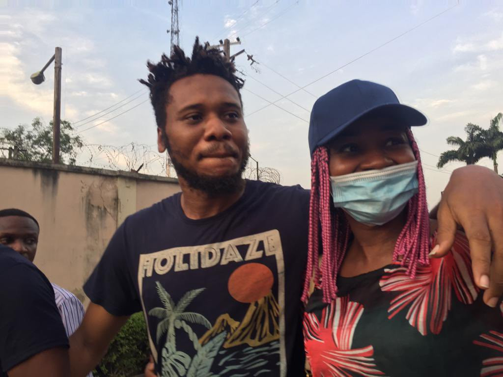 Update:  #EndSARS protester, Eromosele Adene released from police custody (photos)