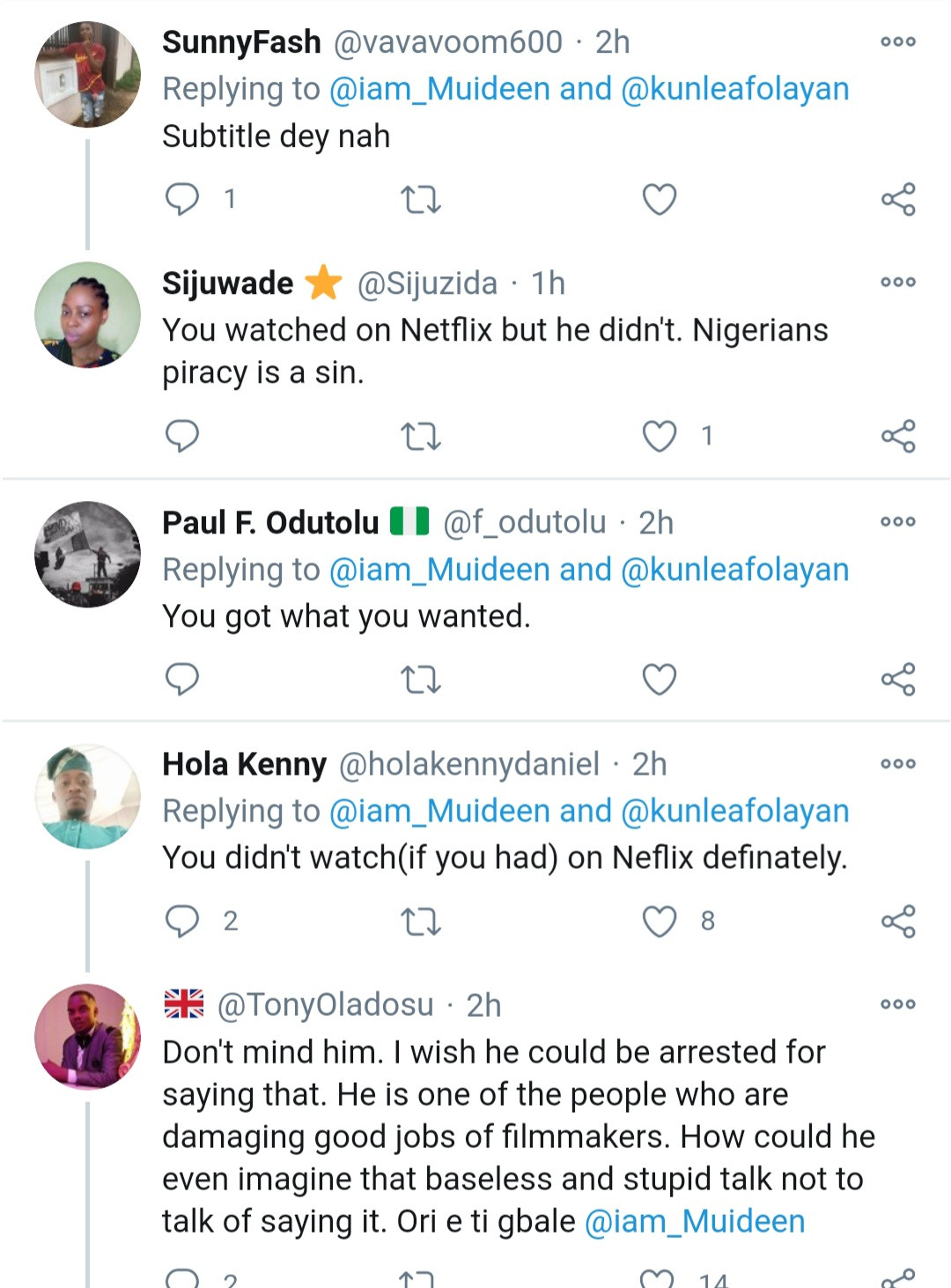 """You are a very stupid idiot. Omo ale."" Kunle Afolayan slams follower who asked why his latest movie"
