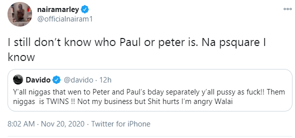 I still don?t know who Paul or Peter is - Naira Marley wades into the Psquare feud