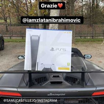 Zlatan Ibrahimovic gives his club teammates the new Sony PlayStation 5*